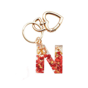 Personalized crystal letter keychain