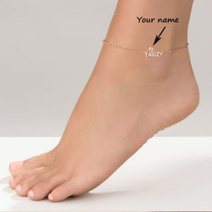 Ankle Bracelet with Name
