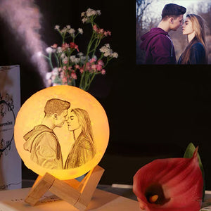 Personalized photo humidifier moon lamp
