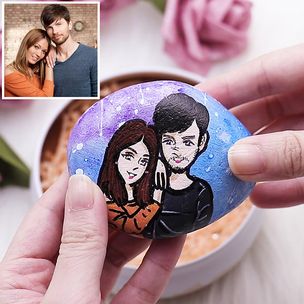 Personalized Painting Portrait Stones