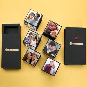 DIY Photo Surprise Explosion Bounce Box Birthday Anniversary Gift - Six Photos