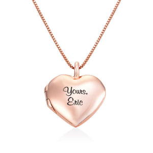 Heart Pendant Necklace with Engraving