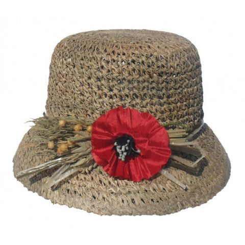 Ladies Natural Straw Hat