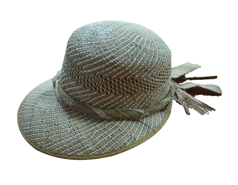 Ysabelle Straw Golf Hat, handcrafted