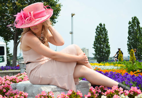 Cascada Straw dress hat, wide brim