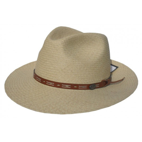 Men's Outback Straw Hat with Leather Band