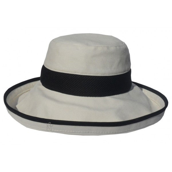 Ladies Cotton Wide Brim Hat 72e2e46db32a