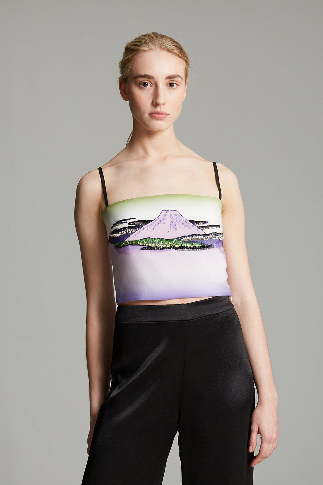 Mt Fuji crop cami