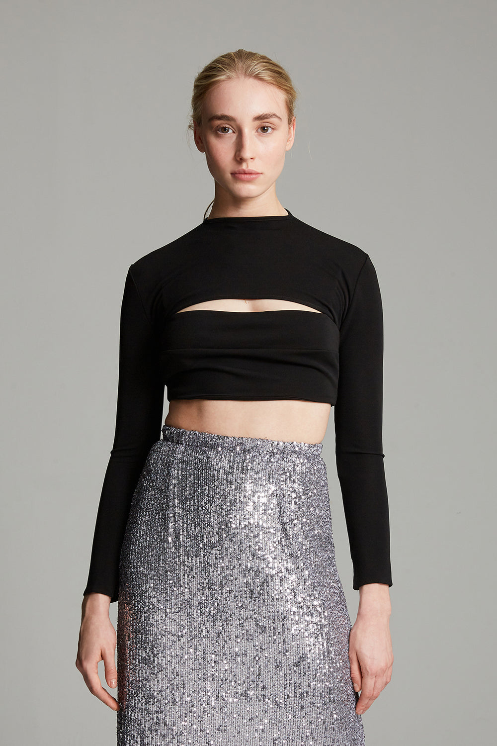 Load image into Gallery viewer, Sequin column skirt