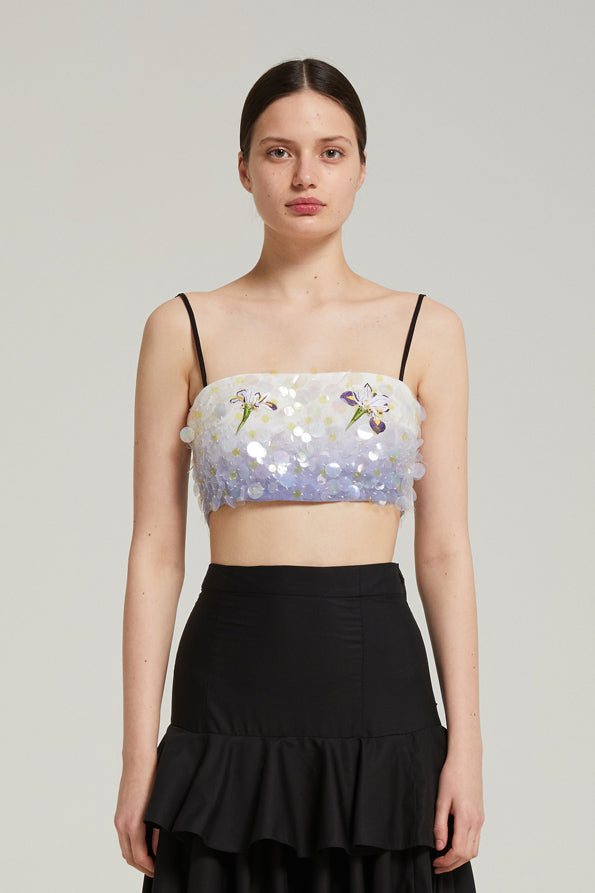 Embroidered Iris top