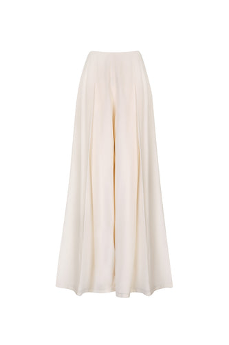 Folded wide leg trousers