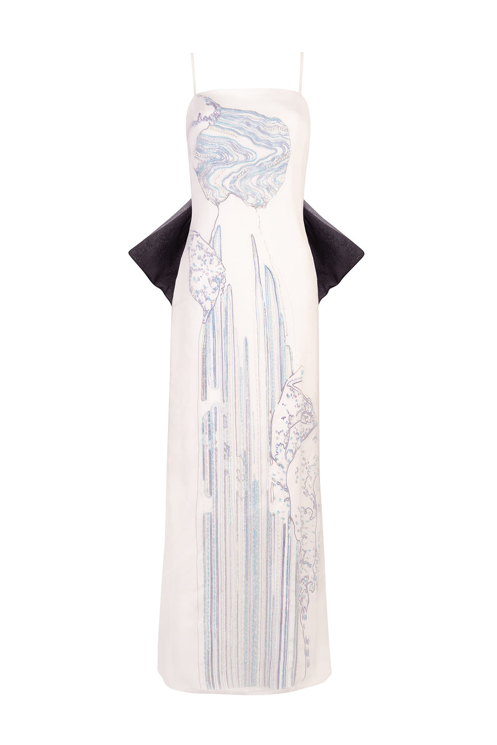 Load image into Gallery viewer, Waterfall embroidered gown