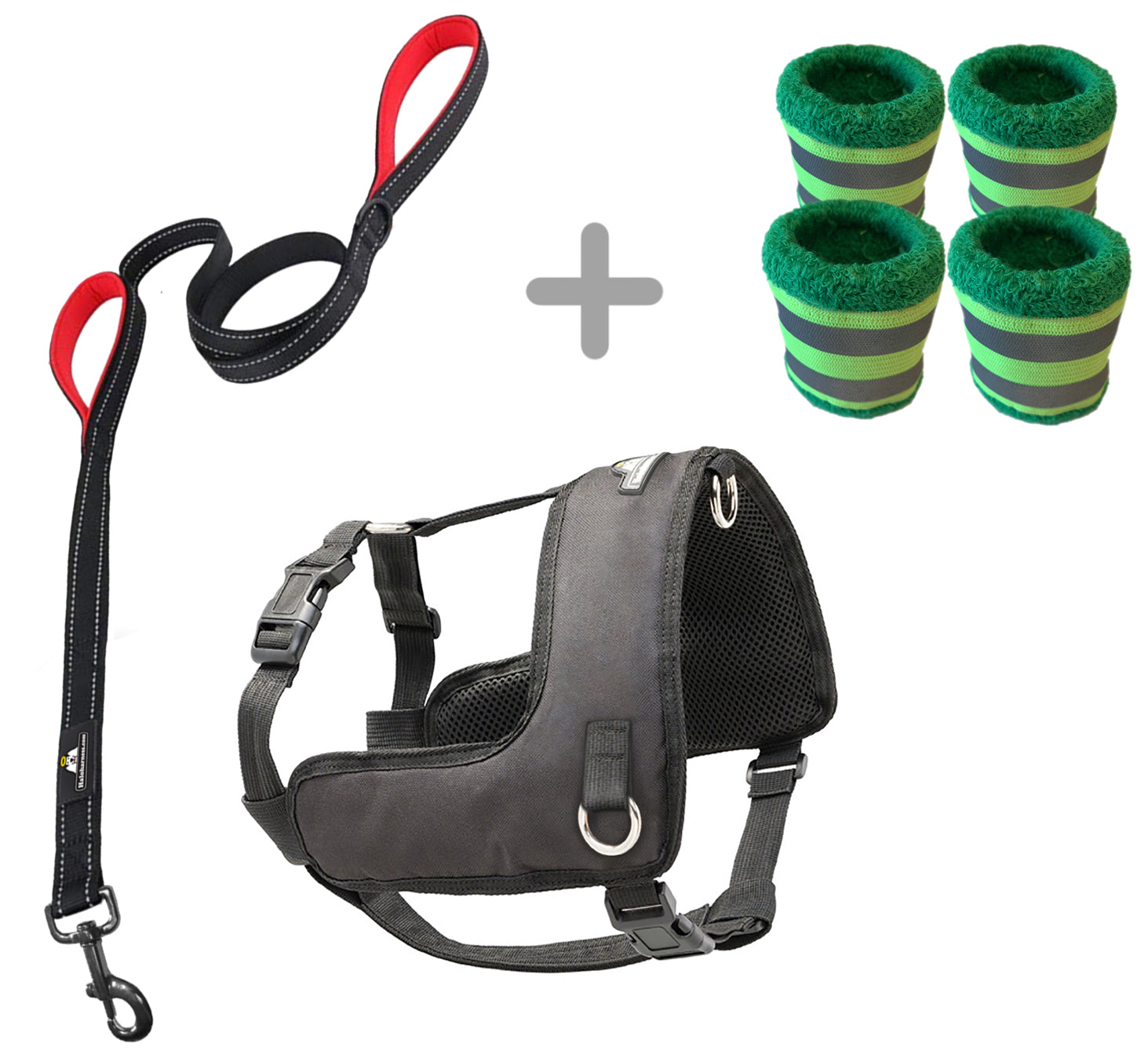 Halo Harness (Small) W/Leash + Vizi Bands Bundle