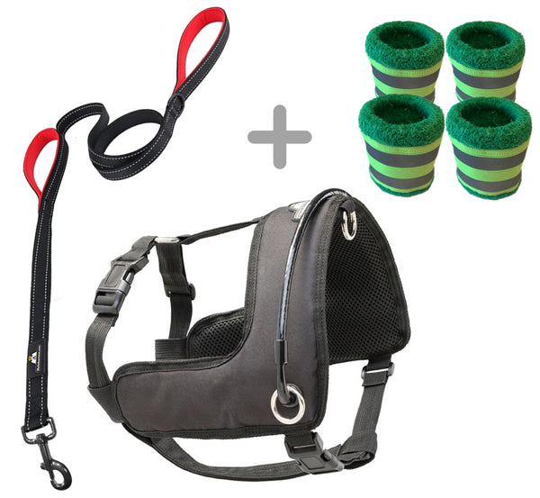 Halo Harness (M, L, XL) W/leash + Vizi Bands Bundle