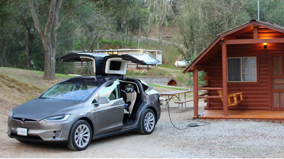 Model X OpenEVSE Camping J1772 Charging Station
