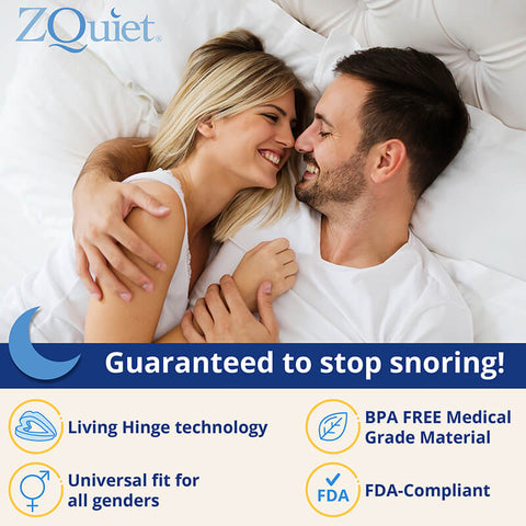 ZQuiet 2-Size Comfort System Anti-Snoring Mouthpiece with FREE Shipping