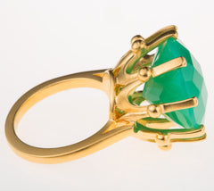 Crown Chrysoprase Ring