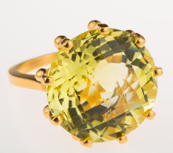 Crown Lemon Citrine Ring