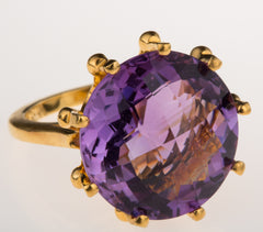 Crown Amethyst Ring