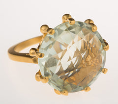 Crown Green Amethyst Ring