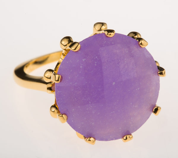 Crown Purple Quartz Ring