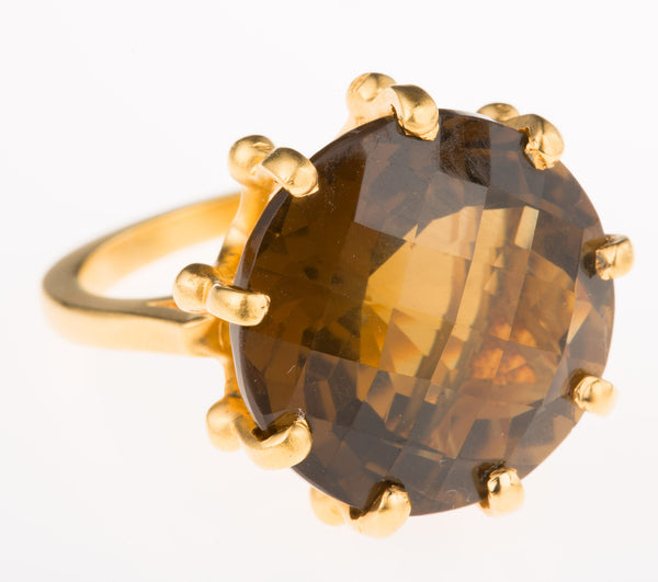 Crown Smokey Quartz Ring