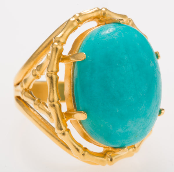 Bamboo Amazonite Ring