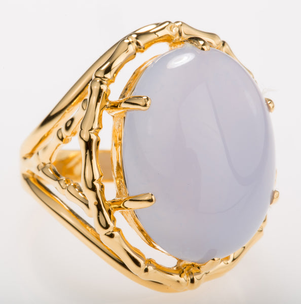 Bamboo Chalcedony Ring