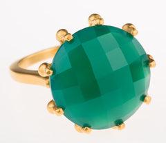 Crown Green Onyx Ring
