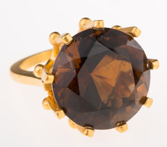 Crown Smoky Topaz Ring