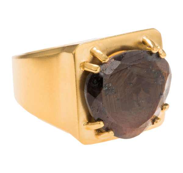 Tortuga Brown Sapphire Ring