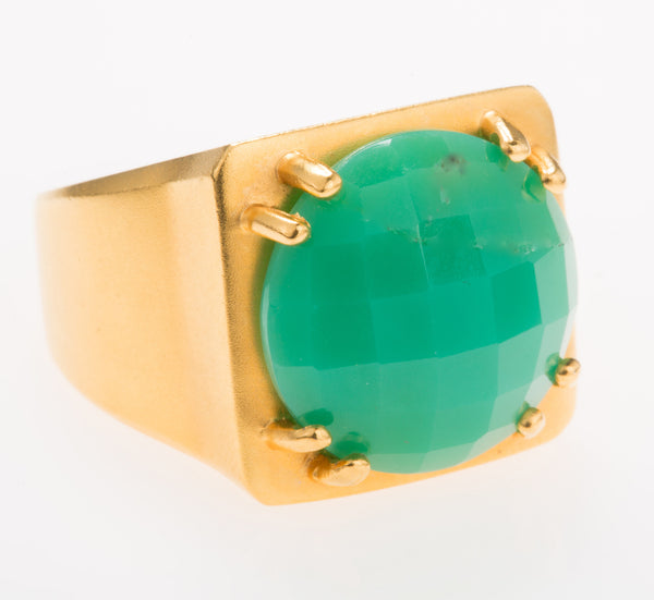 Tortuga Chrysoprase Ring