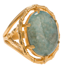 Bamboo Agate Ring