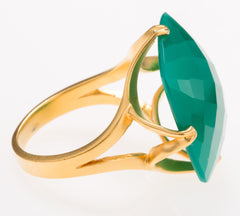 Madison Green Onyx Ring