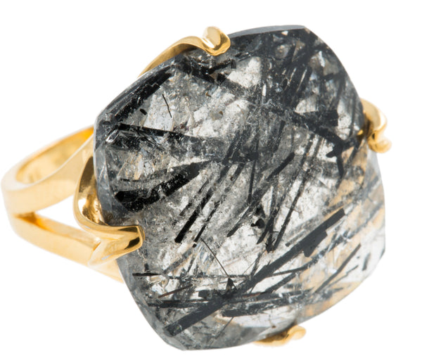 Madison Tourmalated Quartz Ring