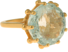 Crown Aquamarine Ring