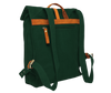 vintage urban organic cotton green backpack