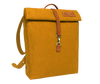 Vintage urban organic cotton yellow backpack