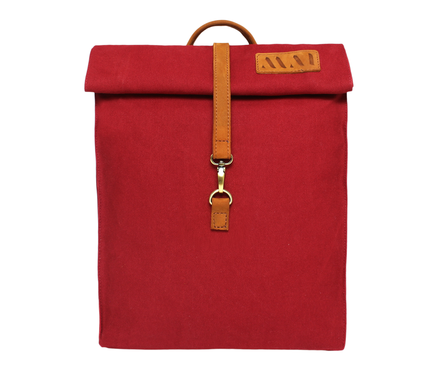 Vintage urban organic cotton red backpack