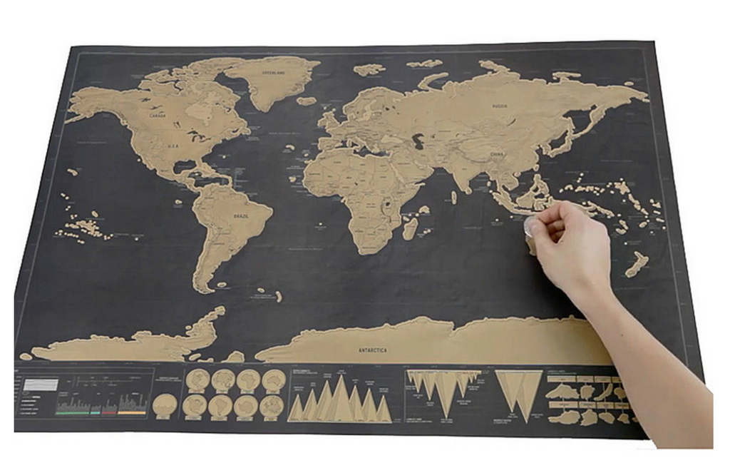 Deluxe World Map Wall™ Scratch Off Map