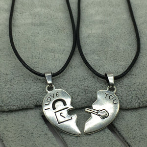 Cheap Couples Necklace  Heart Pendant Paired