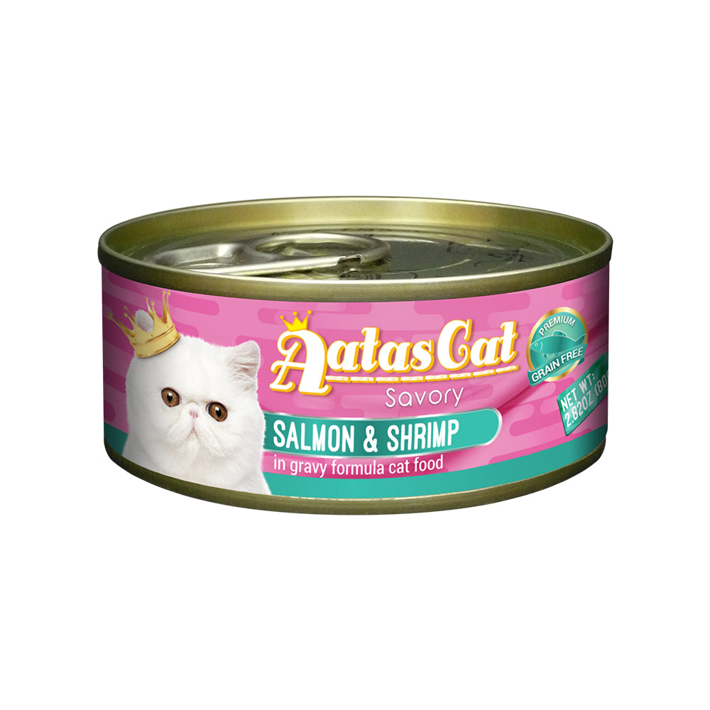 Aatas Cat Savory Salmon and Shrimp in Gravy Canned Cat Food