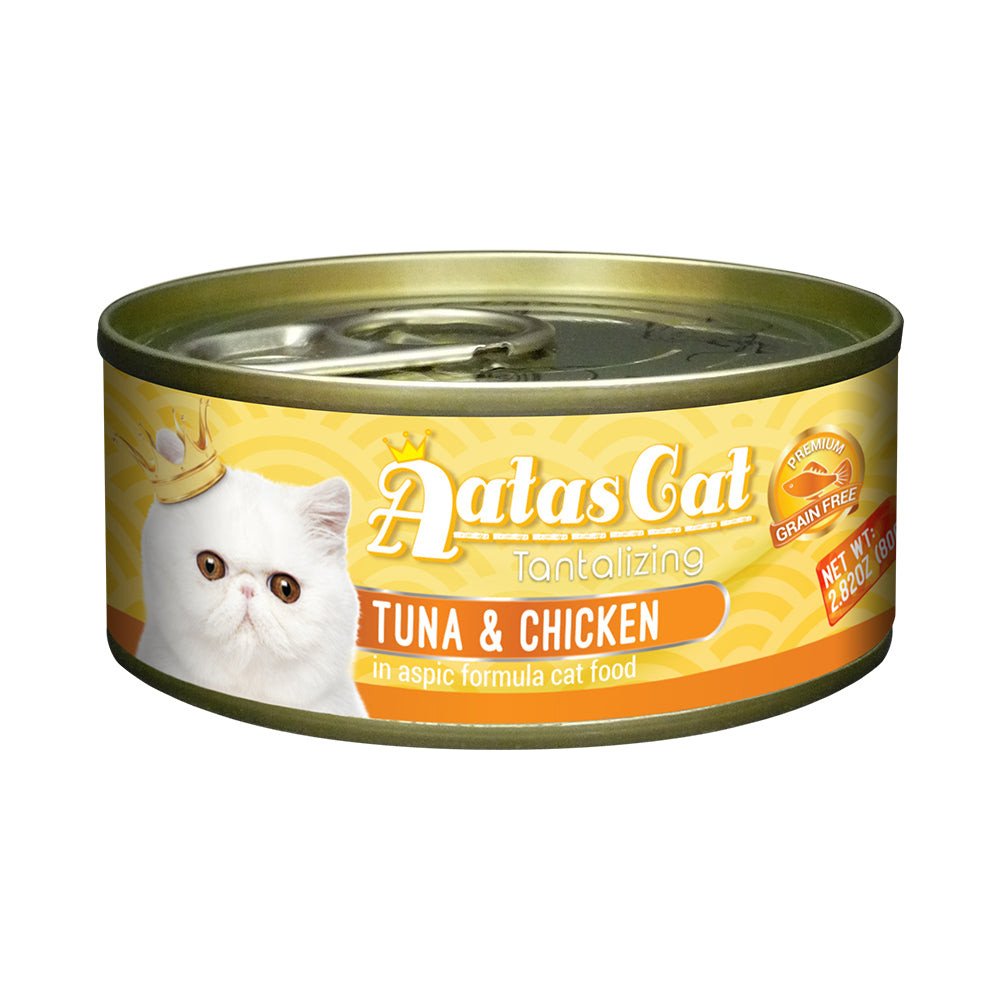 Aatas Cat Tantalizing Tuna and Chicken in Aspic Canned Cat Food 80g