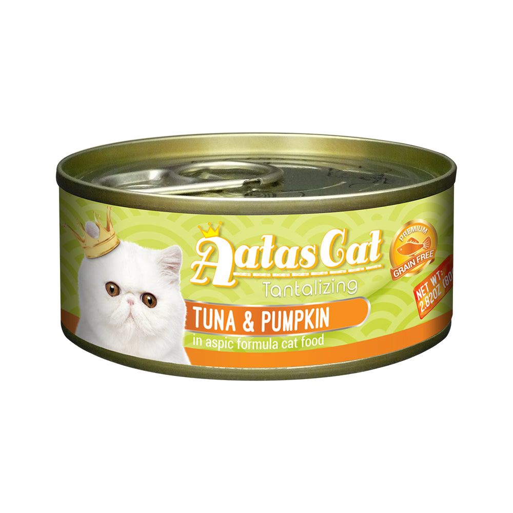 Aatas Cat Tantalizing Tuna and Pumpkin in Aspic Canned Cat Food  80g