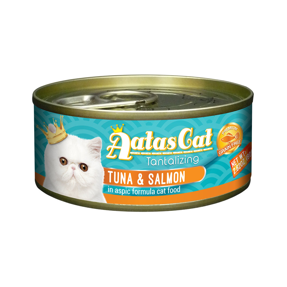 Aatas Cat Tantalizing Tuna and Anchovy in Aspic Canned Cat Food  80g