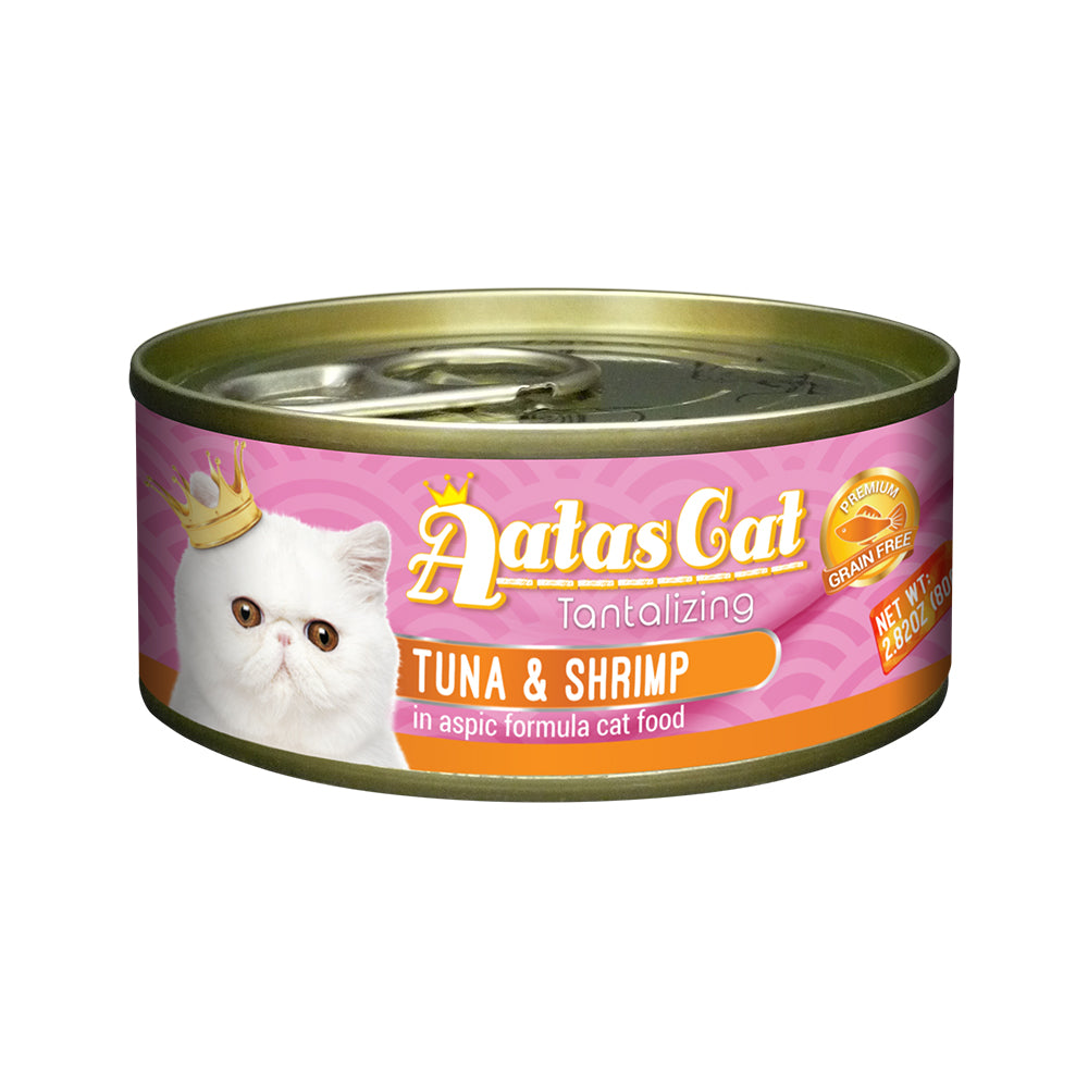 Aatas Cat Tantalizing Tuna and Shrimp in Aspic Canned Cat Food 80g