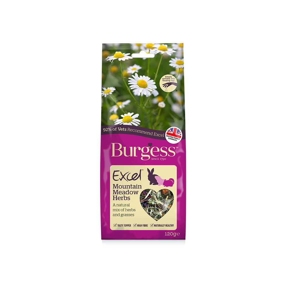 Burgess Excel Snacks Mountain Meadow Herbs 120g