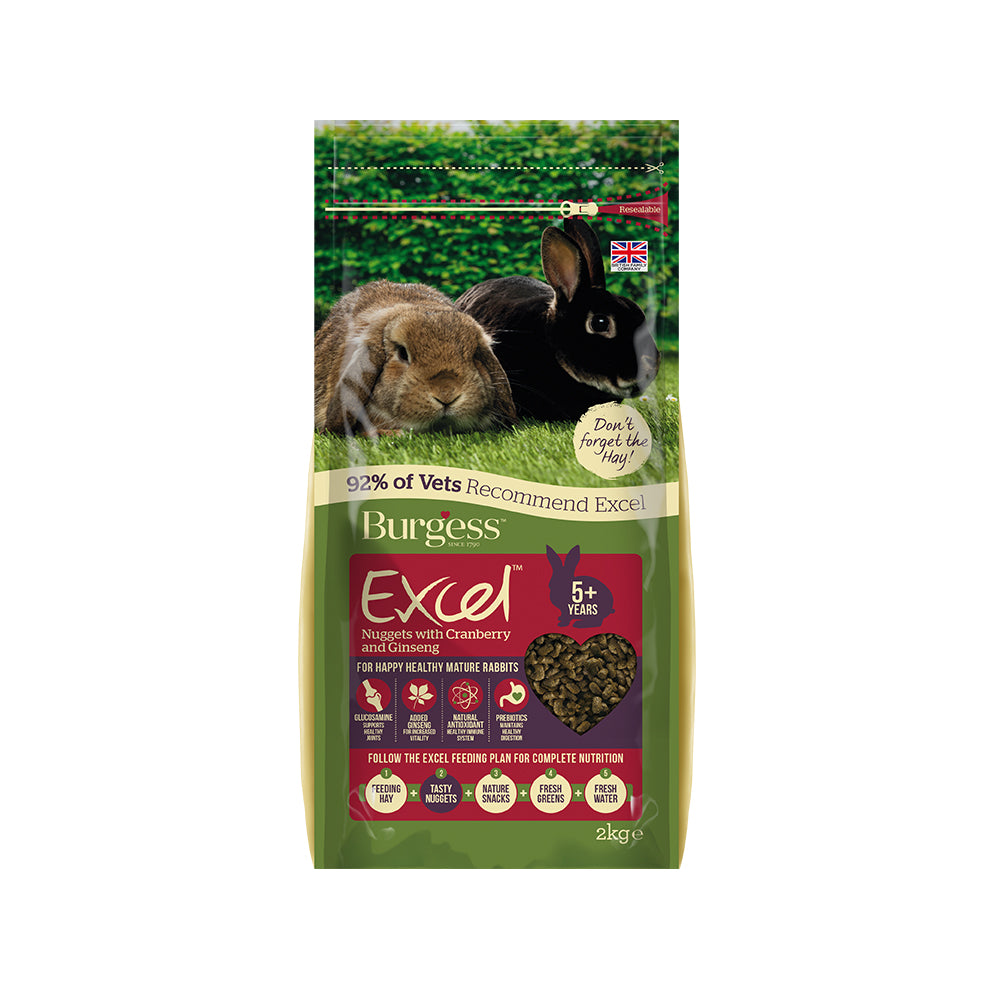 Burgess Excel Tasty Nuggets with Cranberry and Ginseng For Mature Rabbits 2kg