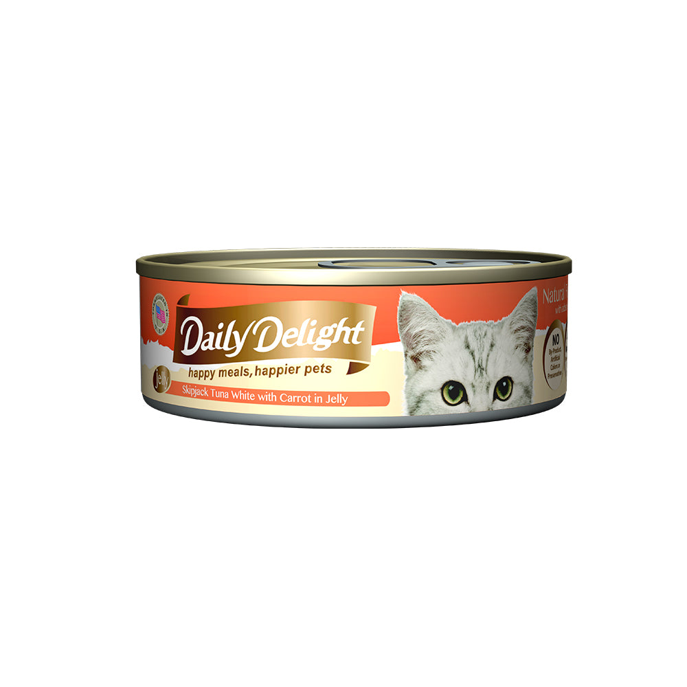 Daily Delight Skipjack Tuna White with Carrot in Jelly 80g x 24 cans