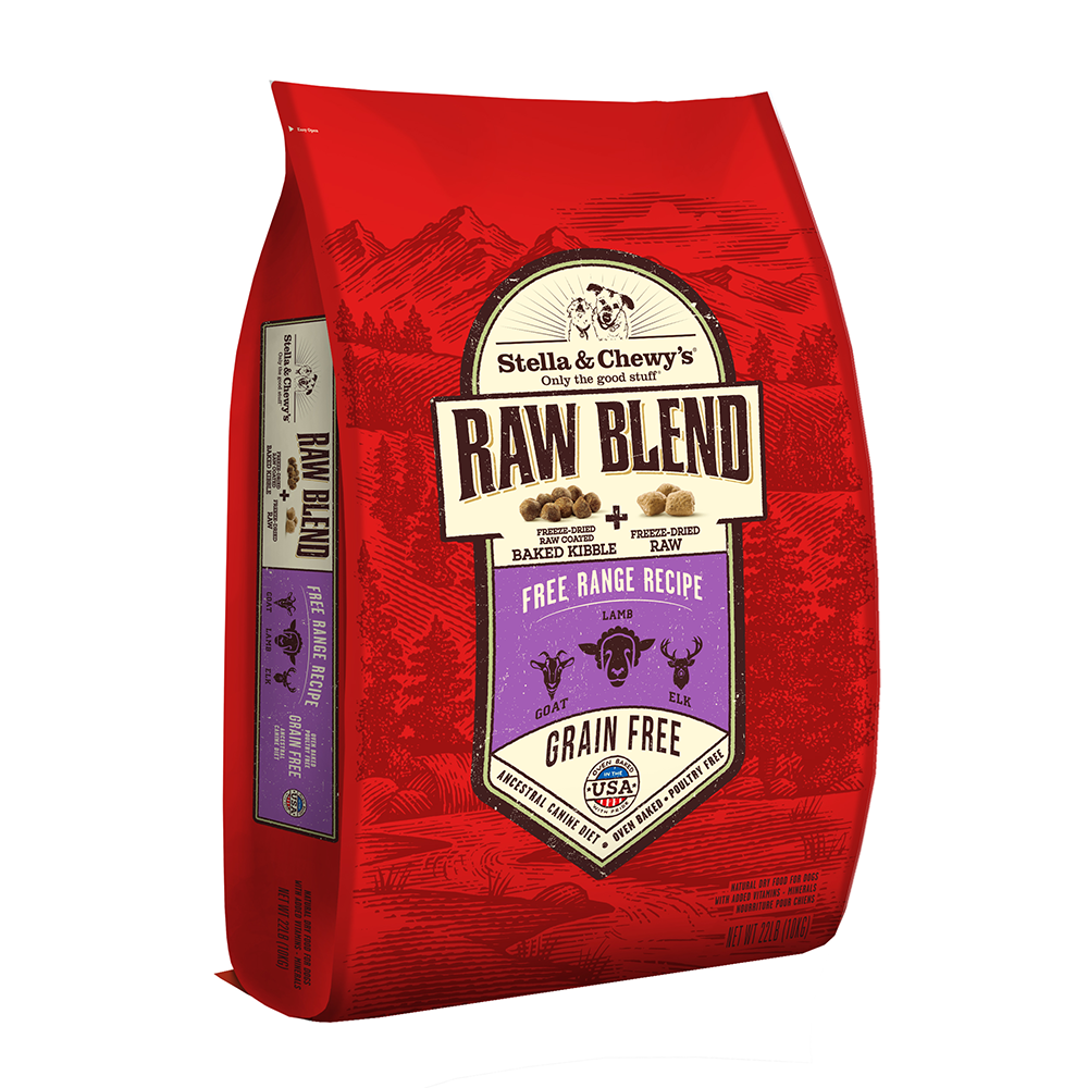 Stella & Chewy's Raw Blend Free Range Kibble With Freeze-Dried Raw Grain-Free Dry Dog Food